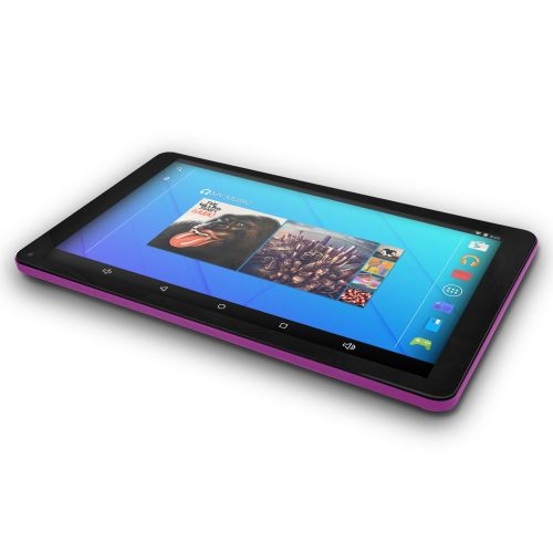 "Ematic EGQ223SKPR 16GB Tablet - 10"" - Wireless LAN Quad-core (4 Core) 1.20 GHz - Purple/Pink"