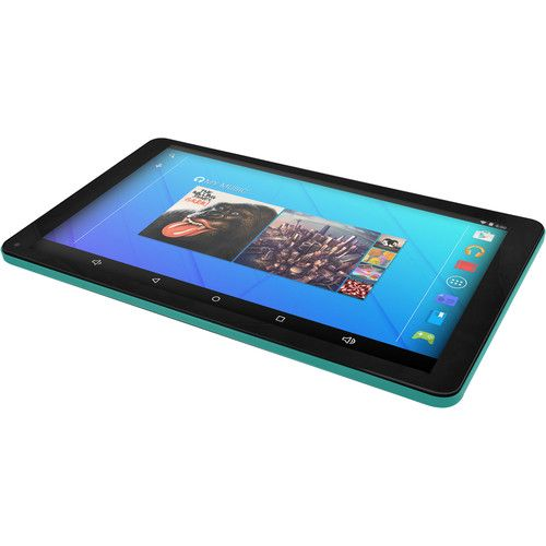 "Ematic EGQ223SKTL 10"" Tablet - 1.2 GHz Quad Core, 1GB RAM, 16GB storage, Android Lollipop 5.1 - TEAL"