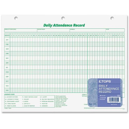 tops daily attendance record form business supplies best buy canada