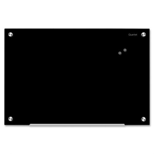 INFINITY MAGNETIC GLASS BOARD, BLACK, 24 X 36