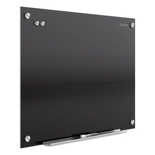 INFINITY MAGNETIC GLASS BOARD, BLACK, 36 X 24