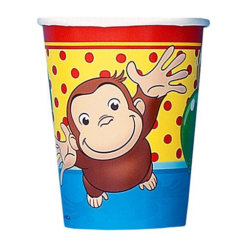 Curious George 9oz Cups [8 Per Pack]