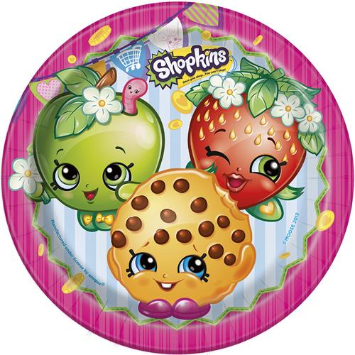 Shopkins Dinner Plates [9 Inches - 8 Per Pack]