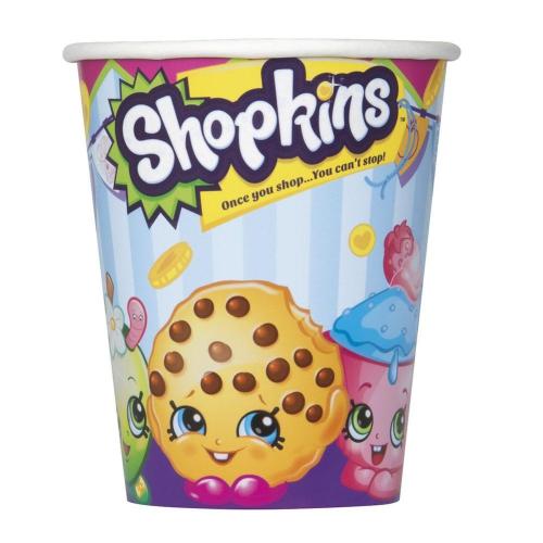 Shopkins Paper Cups [8 Per Pack - 9 oz - 270 ml]