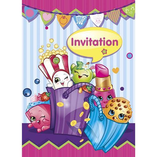 Shopkins Party Invitations [8 per Pack]