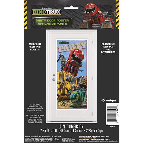 Dinotrux Party Door Poster