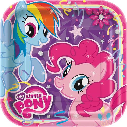 My Little Pony 9 Square Party Plates [8 Per Pack]