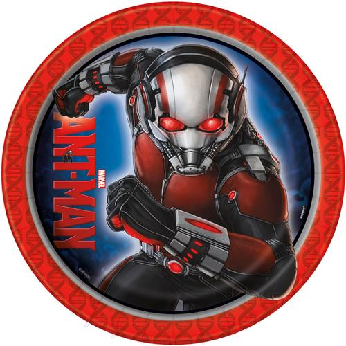 Marvel Ant Man 9 Inch Lunch Plates [8 per Pack]