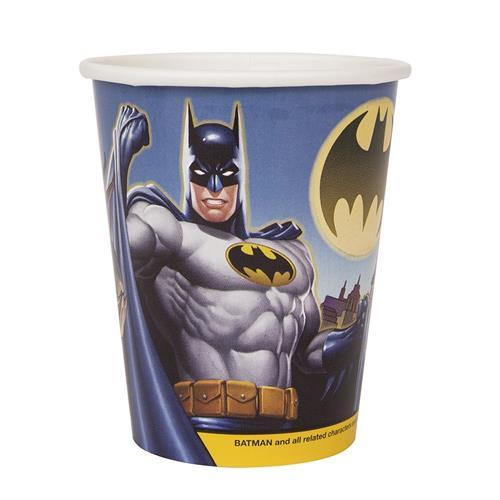Batman 9 oz Paper Cups [8 Per Package]