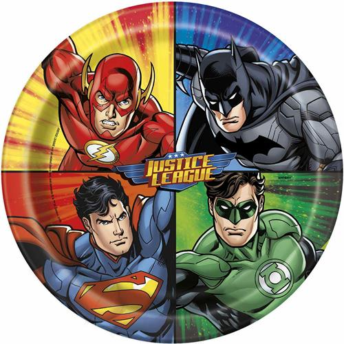 Justice League 9 Inch Dinner Plates [8 per Pack]