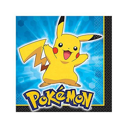 Pokemon Pikachu and Friends Beverage Napkins [16 Per Pack]