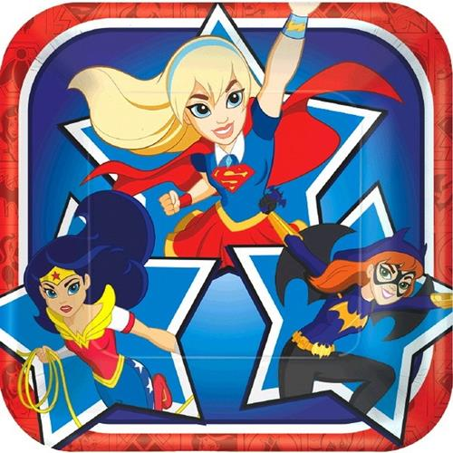 DC Super Hero Girls 7 Inch Dessert Plates [8 per Pack]