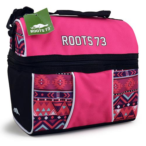 Roots 73 Cooler Bag [Pink and Black]