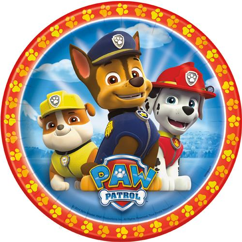 Paw Patrol Plates [7 Inches - 8 Per Pack]