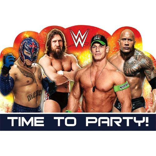 WWE Party Invitations [8 per Pack]