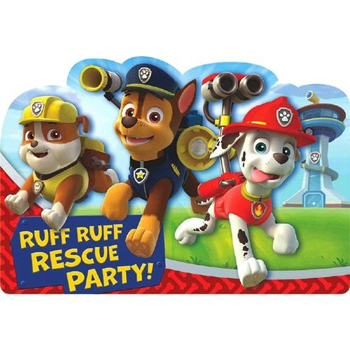 Paw Patrol Postcard Invitations [8 Per Pack]
