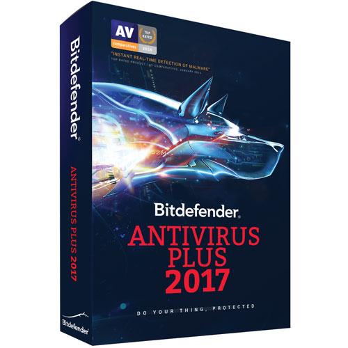 Bitdefender Antivirus Plus 2017 Bonus Edition (PC) - 3 Devices - 2 Years