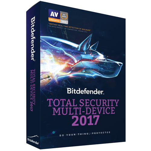 Bitdefender Total Security Multi-Device 2017 (PC/Mac) - 5 appareils - 1 an