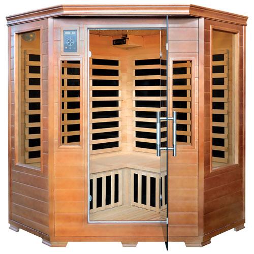 Majestic Saunas Hemlock 3-Person InfraWave Sauna with Carbon Heaters