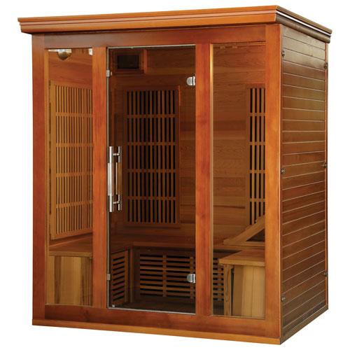 Sauna à infrarouge en cèdre à 4 personnes avec radiateurs au carbone Elite Premium de Radiant Saunas