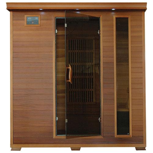 Sauna à infrarouge en cèdre à 4 personnes avec radiateurs au carbone de Radiant Saunas