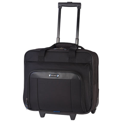 "Nextech 15.6"" Laptop Rolling Bag - Black"