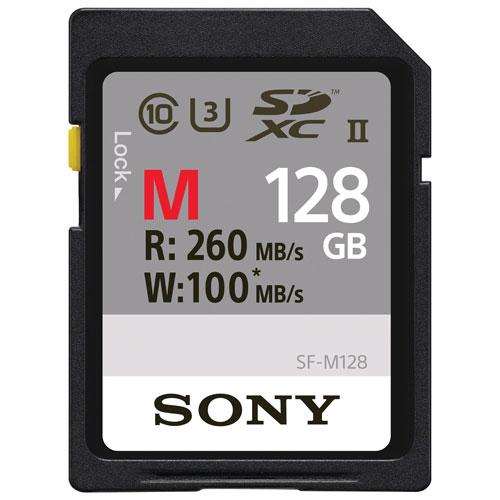 Sony 128GB 260MB/s Class 10 UHS II SDXC Memory Card