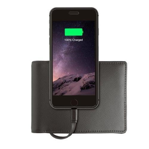 Nomad Wallet Portable Battery Lightning Black