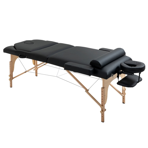 Soozier 91Inches Portable Massage Table 4inch Thickened Pad Folding Adjustable Height SPA Tatto Bed
