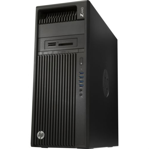 HP Z440 Mini-tower Workstation - 1 x Processors Supported - 1 x Intel Xeon E5-1607 v4 Quad-core (4 Core) 3.10 GHz - Jack Black