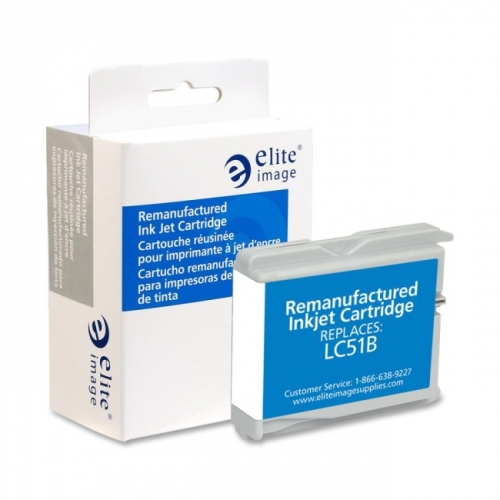 Elite Image Remanufactured Inkjet Cartridge Alternative For Brother LC51BK