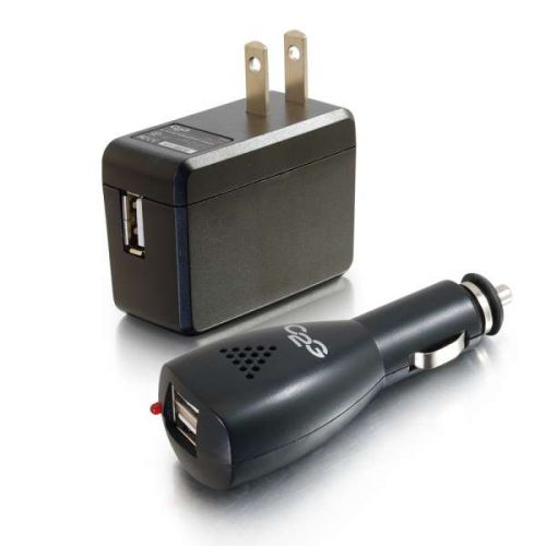 AC AND DC TO USB TRAVEL CHARGE R BUNDLE