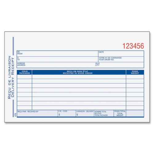 Adams DeliveryReceipt Book Notebooks Best Buy Canada – Delivery Receipt