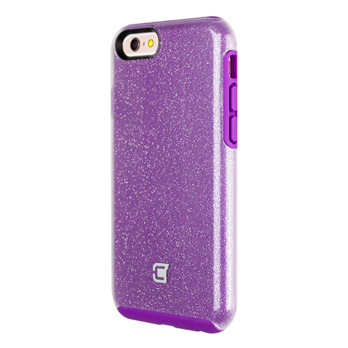 Caseco iPhone 6/6S Dual-Layered Flux Glitter Case - Purple/Clear