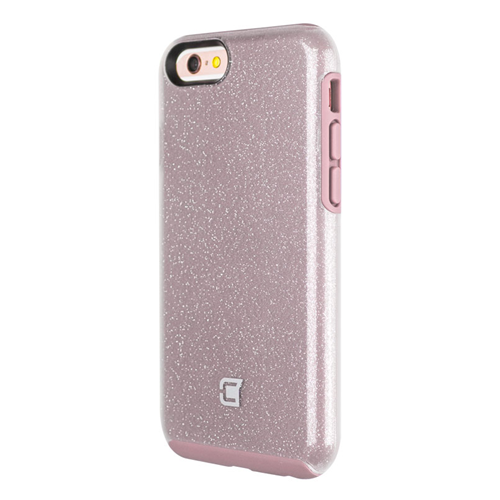 Caseco iPhone 6/6S Dual-Layered Flux Glitter Case - Pink/Clear