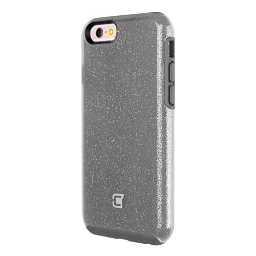 Caseco iPhone 6/6S Dual-Layered Flux Glitter Case - Grey/Clear
