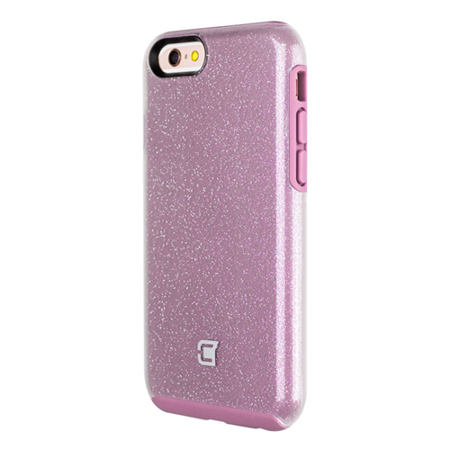 Caseco iPhone 6/6S Dual-Layered Flux Glitter Case - Light Purple/Clear