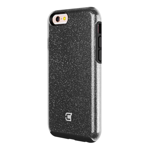Caseco iPhone 6/6S Dual-Layered Flux Glitter Case - Black/Clear