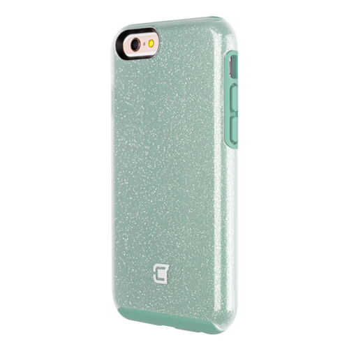 Caseco iPhone 6/6S Dual-Layered Flux Glitter Case - Teal/Clear