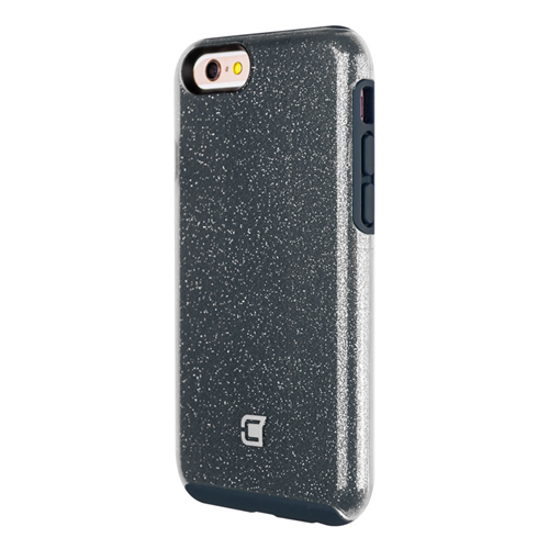Caseco iPhone 6/6S Dual-Layered Flux Glitter Case - Navy/Clear