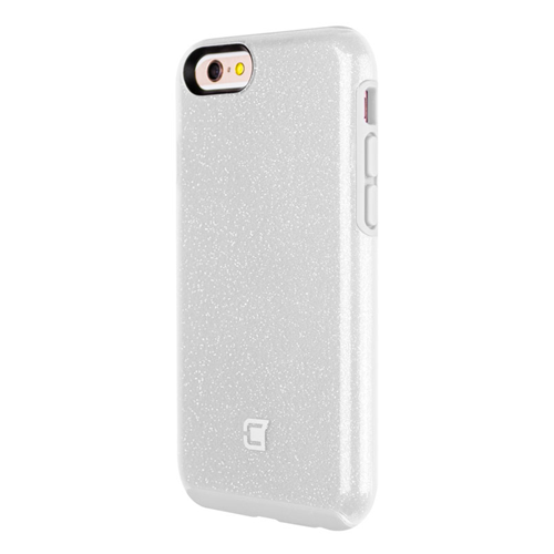 Caseco iPhone 6/6S Dual-Layered Flux Glitter Case - White/Clear