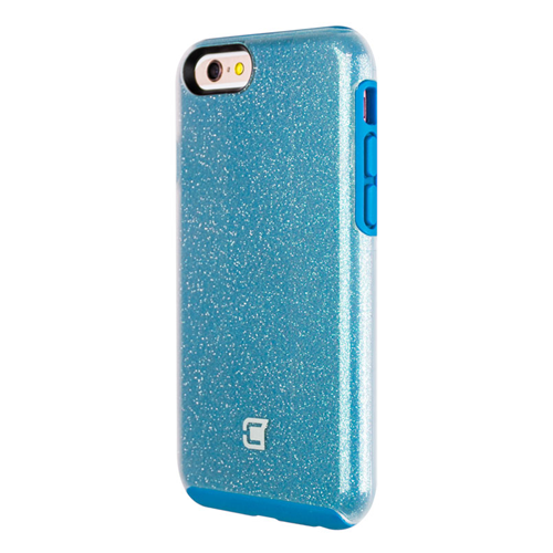 Caseco iPhone 6/6S Dual-Layered Flux Glitter Case - Blue/Clear