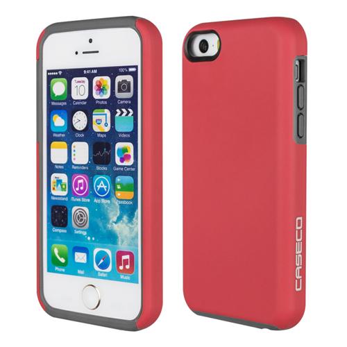 Caseco iPhone SE/5S/5C Flux Hybrid Custom Case - Red/Grey