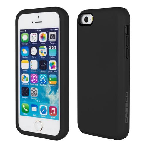 Caseco iPhone SE/5S/5C Flux Hybrid Custom Case - Black/Black