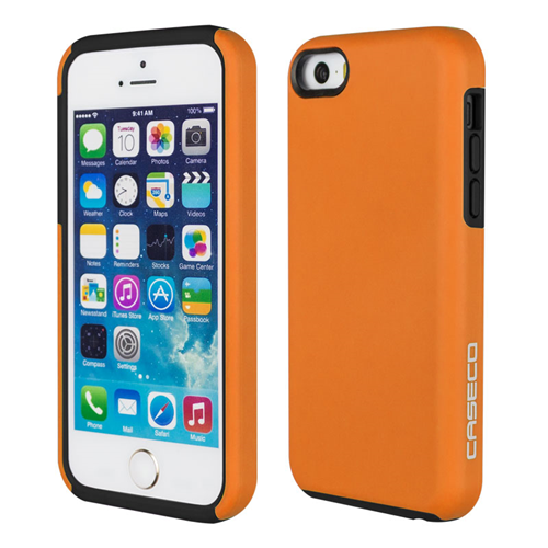 Caseco iPhone SE/5S/5C Flux Hybrid Custom Case - Orange/Black