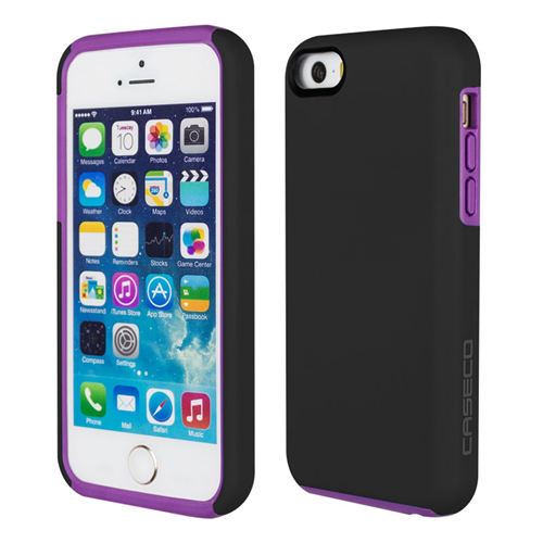 Caseco iPhone SE/5S/5C Flux Hybrid Custom Case - Black/Purple