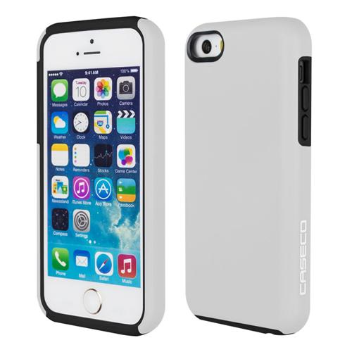 Caseco iPhone SE/5S/5C Flux Hybrid Custom Case - White/Black