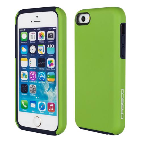 Caseco iPhone SE/5S/5C Flux Hybrid Custom Case - Green/Navy