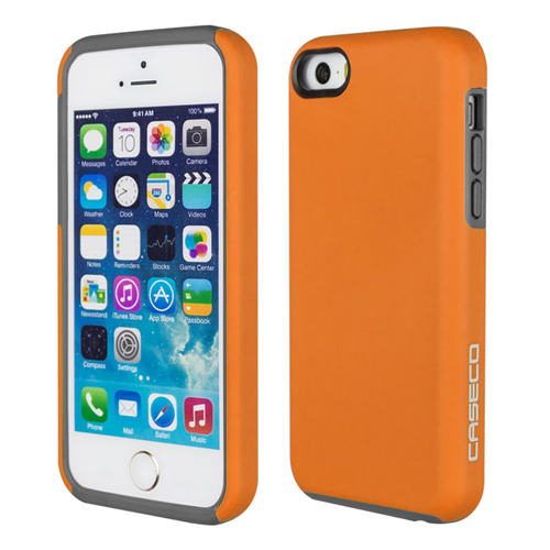 Caseco iPhone SE/5S/5C Flux Hybrid Custom Case - Orange/Grey