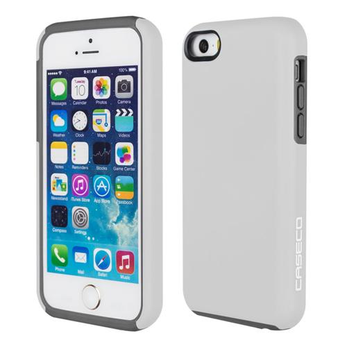 Caseco iPhone SE/5S/5C Flux Hybrid Custom Case - White/Grey